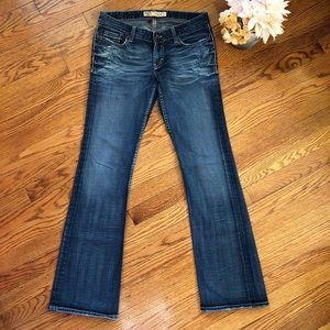 BKE Stella 28x31.5 Distressed Stella Bootcut Jeans
